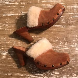 Gianni Bini Suede Mules Fur Lined Sz. 7.5